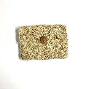 Artisan made knitted clutch